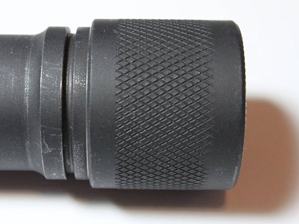 Detail of the Vang Comp +2's knurling