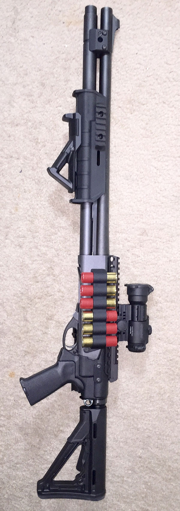 Remington 870 with Tactical Upgrades and Accessories