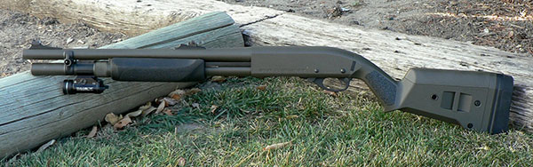 Remington 870 with Magpul Stock, Streamlight TLR-1 HL Flashlight, Hogue Forend