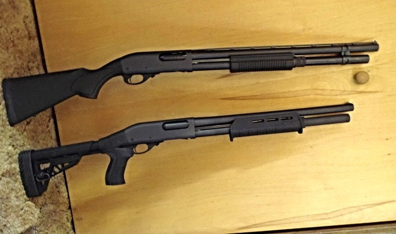 Remington 870 with Shoulder (traditional stock) and Pistol Grip Stock