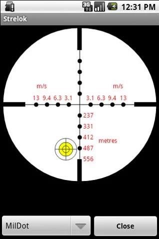 Strelok - ballistic trajectory calculator Androud app for shooters