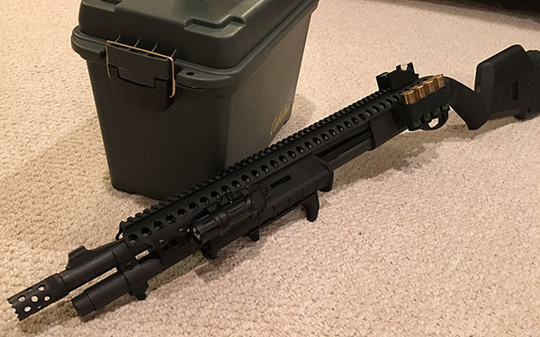 Remington 870 Magpul Tactical with Upgrades and Accessories