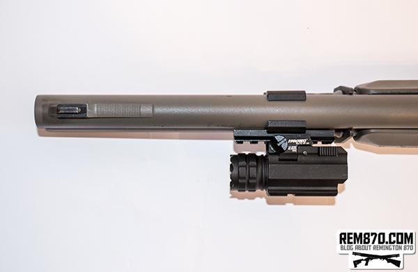 Nebo 6109 iProTec RM190 Firearm Flashlight on Remington 870
