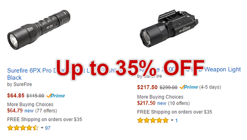 Save up to 35% on Select Surefire Flashlights