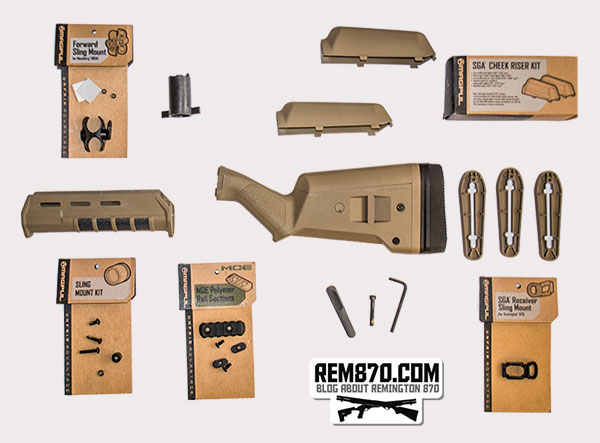 Magpul SGA Stock MOE Forend for Remington870, Accessories
