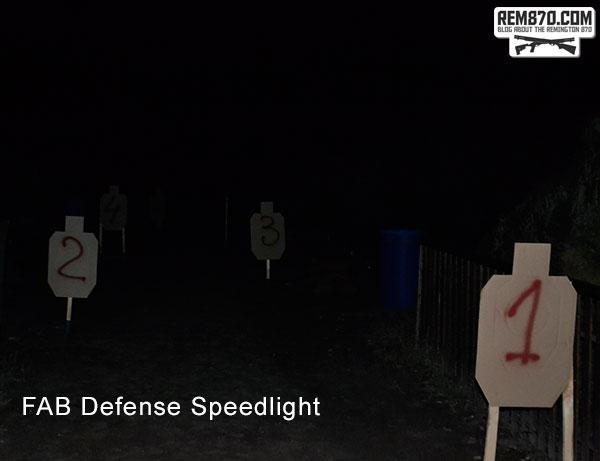 FAB Defense Speedlight Flashlight Test