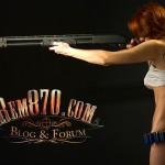 1440x900, Hot Girl with Remington 870 Shotgun