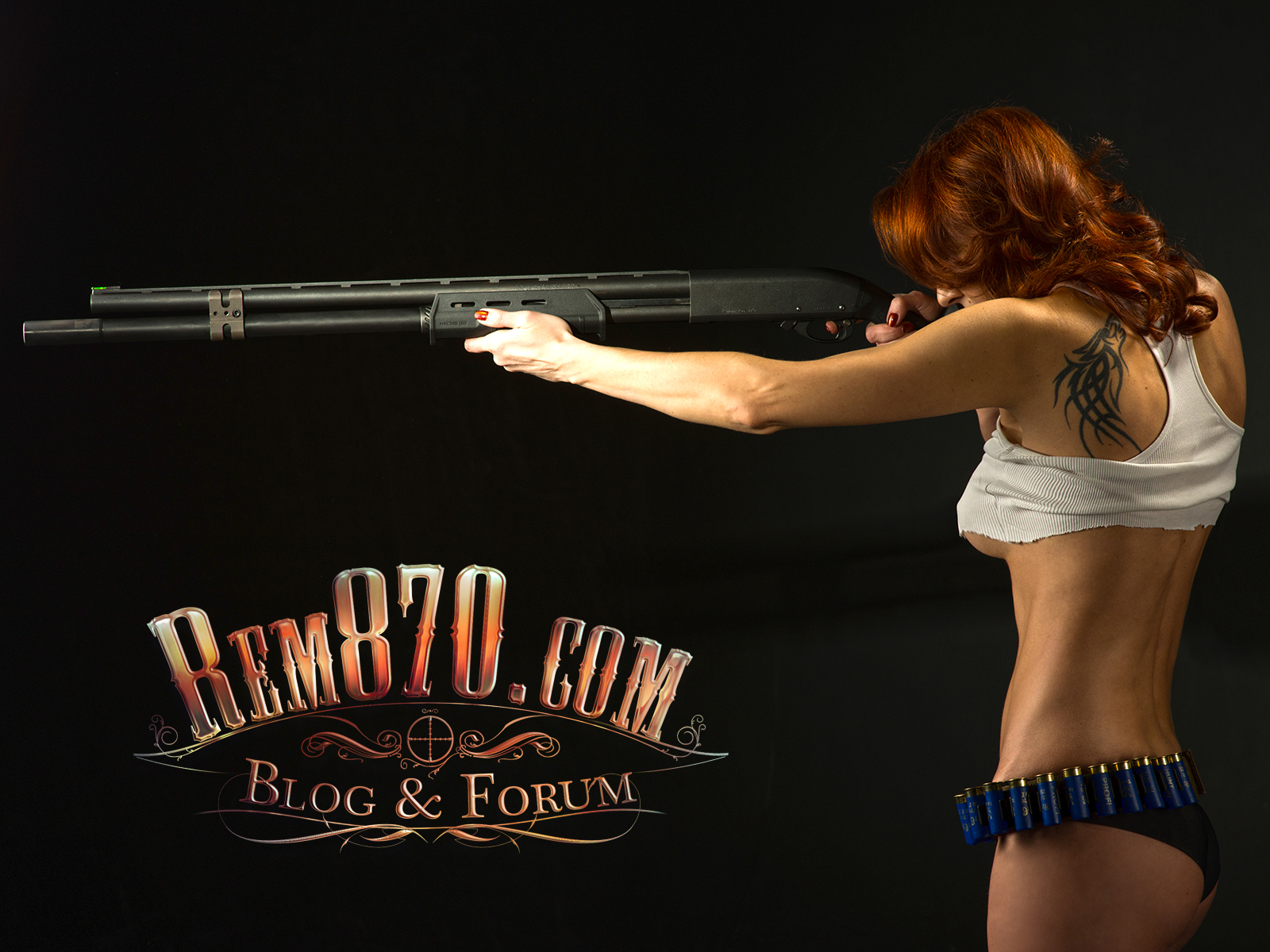 Download FREE Rem870 Wallpaper Hot Girl with Remington 870