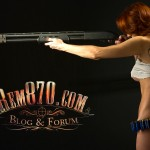1680x1050, Hot Girl with Remington 870 Shotgun