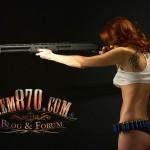 1920x1200, Hot Girl with Remington 870 Shotgun