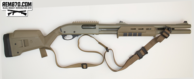 Magpul Multi Mission Sling MS1 on Remington 870 with SGA Stock and Forend