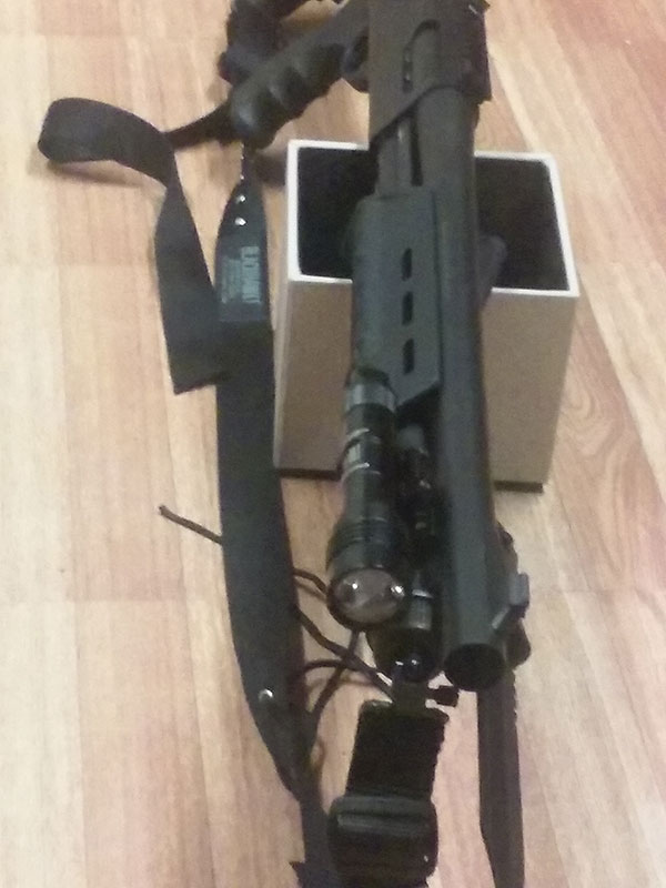 Remington 870 with Magpul, Blackhawk sling