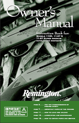 Remington 11-87 Owner's Manual Download (PDF)
