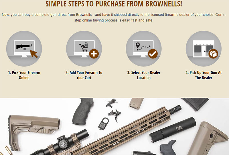 Buy Firearms, Including Remington 870 Online from Brownells