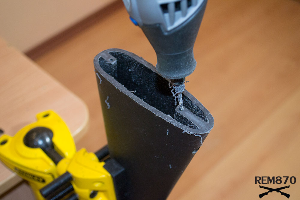 Drilling Holes for Screws, Hogue Stock