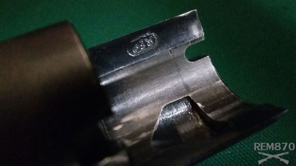 Remington 870 Recoil Lug Tooling Marks