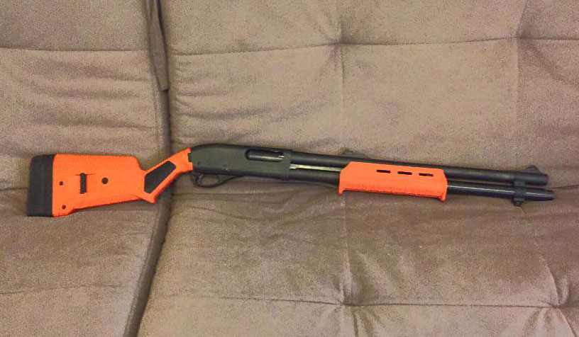 Remington 870 Orange Magpul Furniture