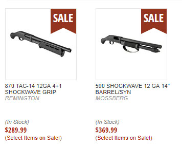 shotguns on sale