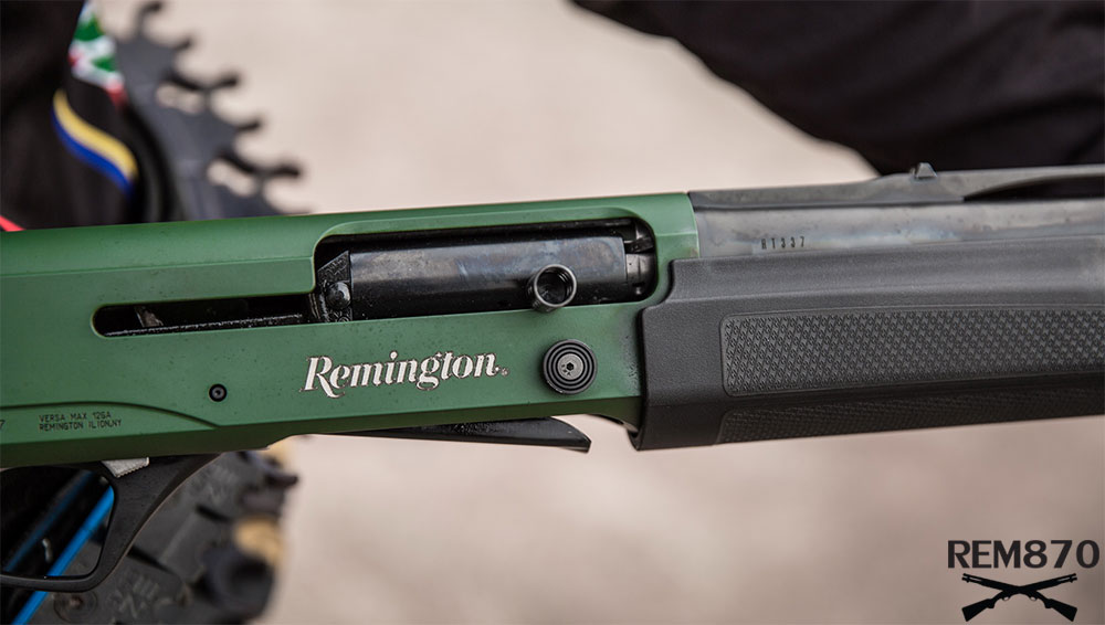 Remington Versa Max Competition Tactical, Oversized Charging Handle, Bolt Release Button
