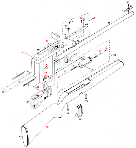diagram for remington 597 bolt assembly remington 597 parts #1