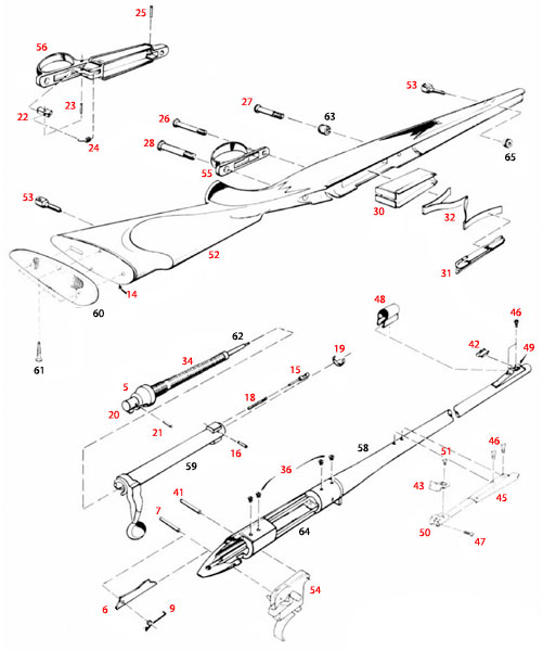 Remington 700 BDL Parts List and Schematics