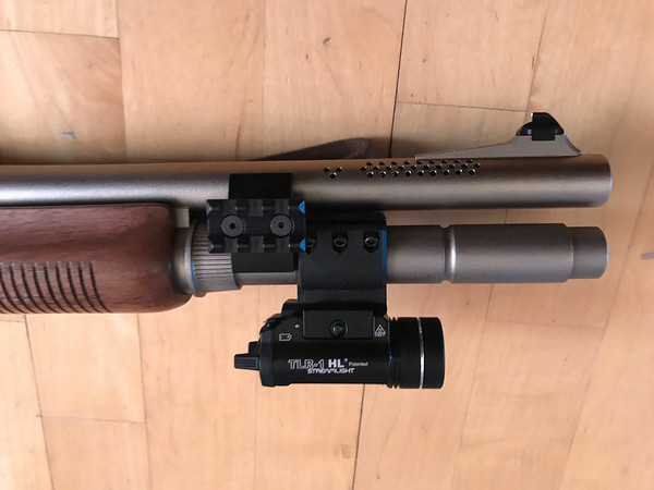 Remington 870 Police Marine Magnum with Streamlight TLR-1 Flashlight