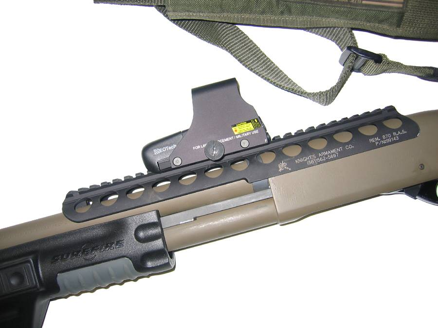Remington 870 with Knight's Armament RAS used by Canadian Forces in Afghanistan
