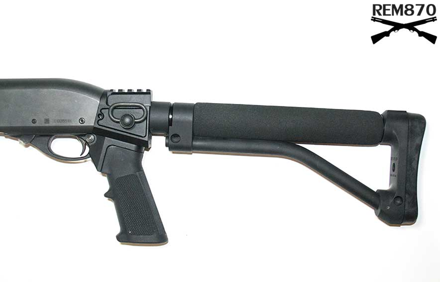 Ace Skeleton Stock on Remington 870 Shotgun