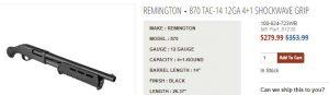 Remington 870 Tac-14 on SALE!