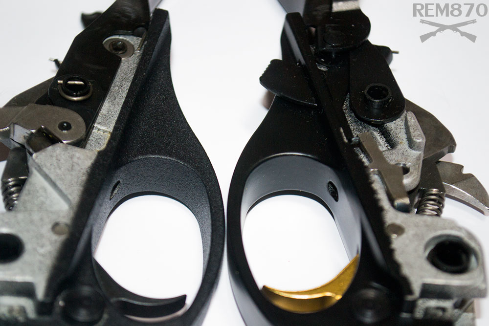 Remington 870 Police and Gold Trigger Group Side by Side