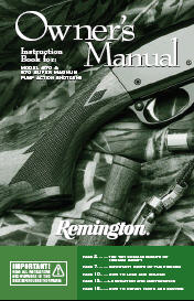 Remington 870 Owner's Manual PDF Download