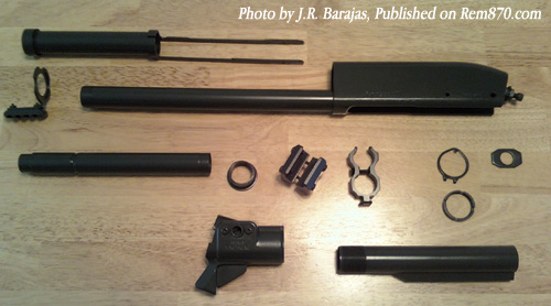 Remington 870 Parts after Duracoat