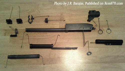 Remington 870 Parts before Duracoat