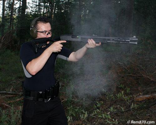 Remington 870 with Flashlight