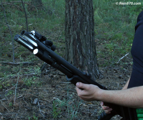 Remington 870 with Tactical Flashlight on CDM Gear Clamp