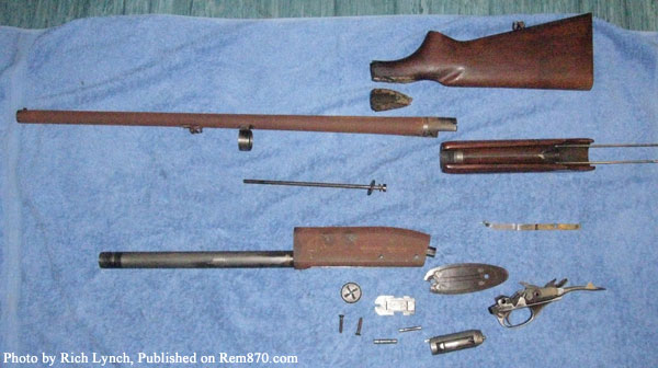 Rusty Parts of Remington 870