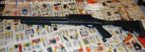 Remington 870 Shotgun in Italy with ATI collapsible stock