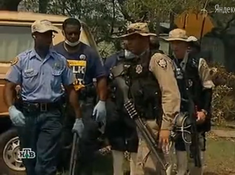 Remington 870 with a 6-shot SideSaddle in New Orleans after Hurricane Katrina
