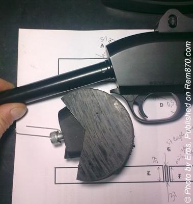 Benelli M3 Shotgun Modification (adding collapsible stock)
