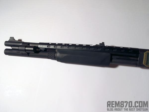 Remington 870 Heatshield, Review, Photo, Modification for Rifle Sights