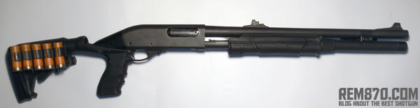 Remington 870 with Knoxx SpecOps Stock, Forend, PowerPak and Hogue HandAll