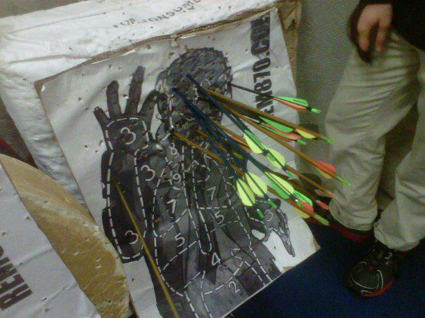 Zombie Targets in Real Life, Archery Shooting, Photos