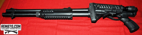 Remington 870 with Folded Fab Defense Stock