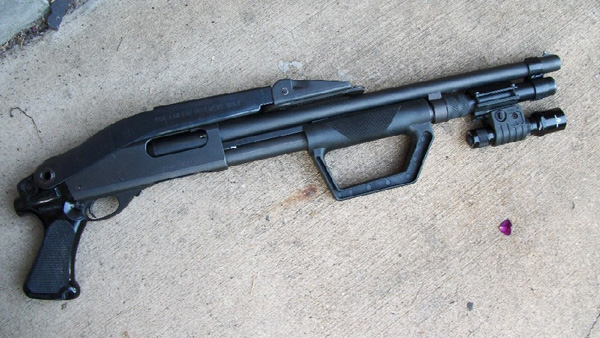 Remington 870 with Law Enforcement Top-Folding stock and Butler Creek Forend