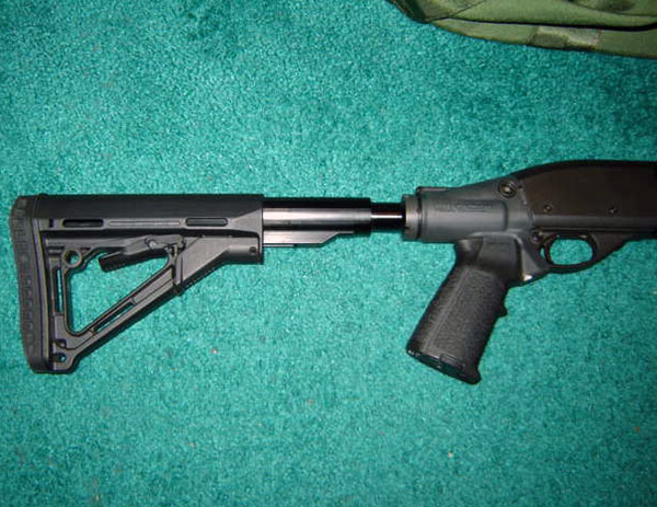 Remington 870 - LEO Adaptor, Magpul Stock