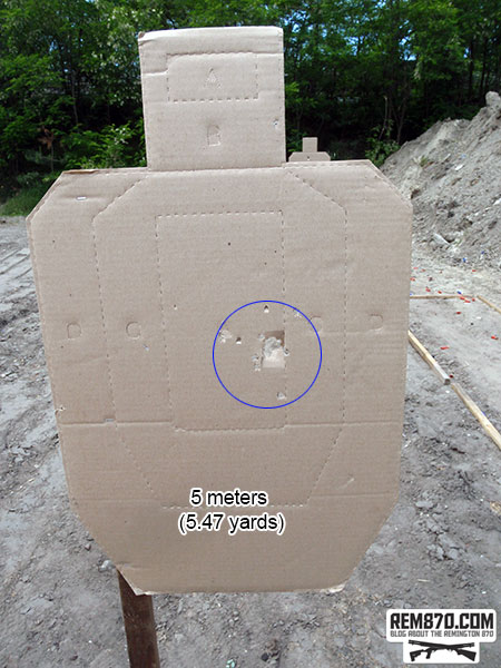Shotgun Buckshot Pattern - 5 Meters