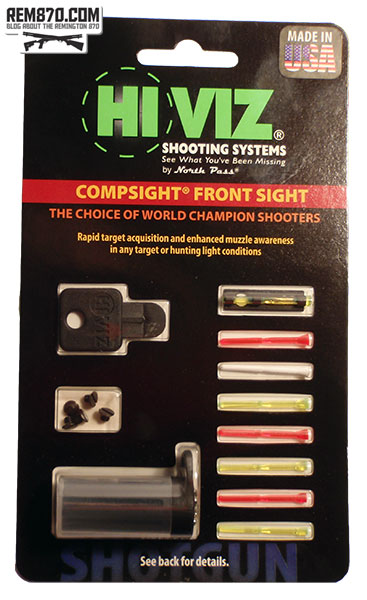 Hiviz Shotgun CompSight Front Sight with 8 Pipes and Carrying Case