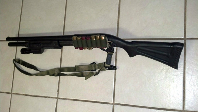 Remington 870, Choate Stock, Surefire Forend