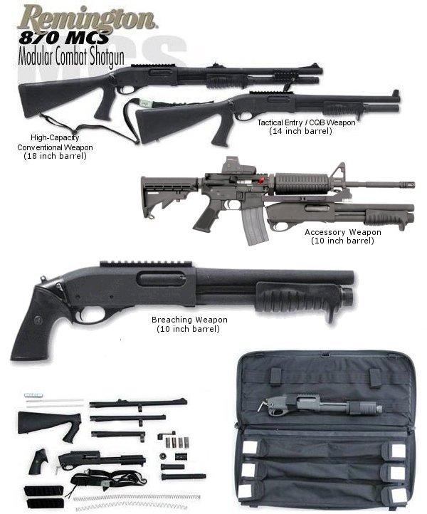 Remington M870 Modular Combat Shotgun
