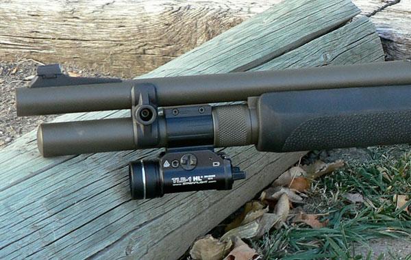 Streamlight Flashlight on Remington 870 Shotgun